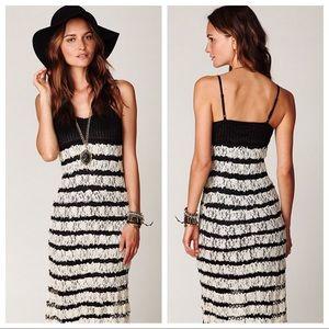 Free People Crochet & Lace Maxi Sweater Dress